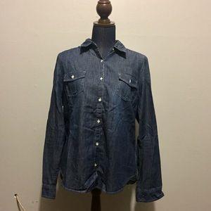 Kohl's SO Denim Button Down Shirt